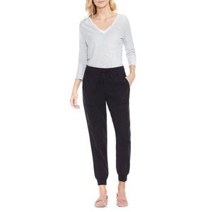 Vince Camuto Black Twill Jogger Pants